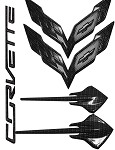 C7 Corvette Stingray 2014+ Hydrocarbon Carbon Fiber Emblem Package