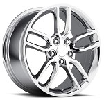C7 Corvette Stingray Chrome OEM Style Z51 Wheels - Fitment For C6 C7 2005-2014+ 18x8.5 / 19x10