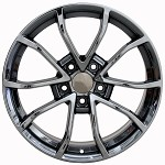C6 Corvette 2013 Corvette Cup Style Wheels (Set) Black Chrome 18x8.5 / 19x10 2005-2013