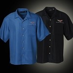 C6 Corvette 2005-2013 Men's Mosaic Camp Shirt - Black / Blue