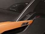 C7 Corvette Stingray/Z06 2014+ Hydrocarbon Fiber Drivers Door Panel Bezel - Window Buttons