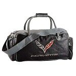 C7 Corvette Stingray/Z06 2014+ Custom Leather Duffel Bag - 24 Inch
