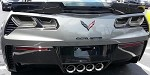 C7 Corvette Stingray/Z06/Grand Sport 2014+ Rear Tail Light Blackout Kit - Acrylic (4Pc.)