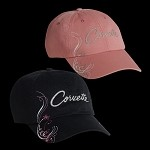 C3 C4 C5 C6 C7 Corvette 1968-2014+ Ladies Corvette Shimmer Cap - Pink / Black