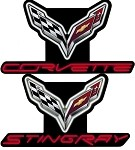 C7 Corvette Stingray 2014+ Neon Signs - Crossed Flags Logo / Script