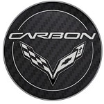 C7 Corvette Stingray 2015+ GM Center Cap - Carbon Logo