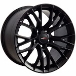 C7 Corvette Satin Black OEM Style Z06 Wheels - Fitment For C5 Z06 1997-2004 17x9.5 / 18x10.5