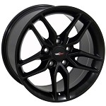 C7 Corvette Stingray Satin Black OEM Style Z51 Wheels - Fitment For C5 1997-2004 17x9.5 / 18x10.5