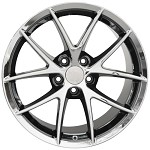 Corvette C6 2006-2013 Spyder Black Chrome Wheel Set 18x9.5/19x12