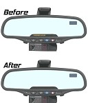 C6 Corvette 2005-2013 Mirror Air Bag Light Overlay Decal - Matte Black