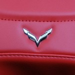 C7 Corvette Stingray/Z06 2014+ Crossed Flags Seat Emblem - Chrome
