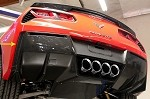 C7 Corvette Stingray 2014+ Hydrocarbon Fiber GM Rear Valance Vents - Pair
