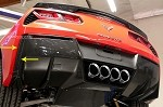 C7 Corvette Stingray/Z06 2014+ Hydro Carbon Fiber GM Rear Valance Vents - Pair