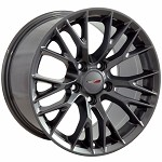 C7 Corvette Gunmetal OEM Style Z06 Wheels - Fitment For C5 1997-2004 17x9.5 / 18x10.5