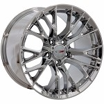 C7 Corvette Chrome OEM Style Z06 Wheels - Fitment For C5 1997-2004 17x9.5 / 18x10.5