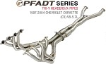 C5 Corvette 1997-2004 PFADT Series Tri-Y Headers Exhaust System W/ X-Pipe Option