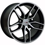 C7 Corvette Stingray Machined OEM Style Z51 Wheels - Fitment For C5 1997-2004 17x9.5 / 18x10.5