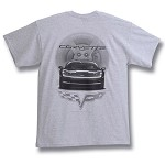 C6 Corvette 2005-2013 Front View Gray T-Shirt