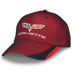 C6 Corvette 2005-2013 Crossflags Logo Twill And Mesh Cap - Red/Black