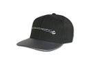 C7 Corvette Stingray 2014+ Black Cap - W/ Horizontal Stingray Logo - Carbon Fiber Bill