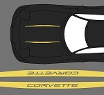 C5 Corvette 1997-2004 Hood Stripe Decals - Pair
