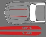 C3 Corvette 1968-1982 Hood Stripe Decals - Pair