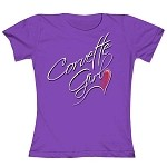 Corvette Girl Purple Heart T-Shirt