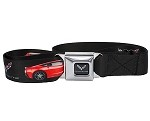 C7 Corvette Stingray 2014+ Full Color Seat Belt Styled Belt - Logo W/ Car