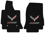 C7 Corvette Z06 2015+ Lloyd Ultimat Crossed Flags / Z06 Supercharged Floor Mats
