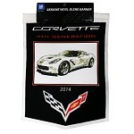 C7 Corvette Stingray 2014+ Wool Banner - 16 Inch x 22 Inch