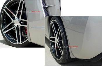 C6 Corvette 2005-2013 Custom Painted GM Splash Guard Set Non-ZO6, GS, ZR1