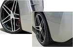 C6 Corvette 2005-2013 Hydrocarbon Carbon Fiber GM Splash Guard Set Non-ZO6, GS, ZR1