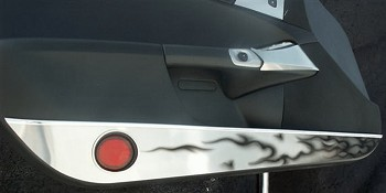 Corvette C6 Door Guards W/ Black Flames