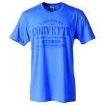 C3 C4 C5 C6 C7 Corvette 1968-2014+ Official Corvette Athletic Style T Shirt