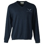 C7 Corvette 2014+ Mens Charcoal Heather Embroidered Sweater - V-Neck / Quarter Zip