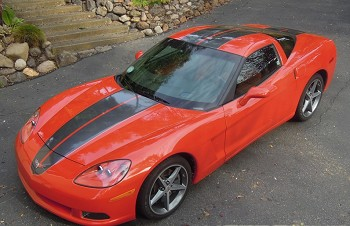 Corvette C6 Base / Z06 / Grand Sport CSR STINGER Style Stripe Package