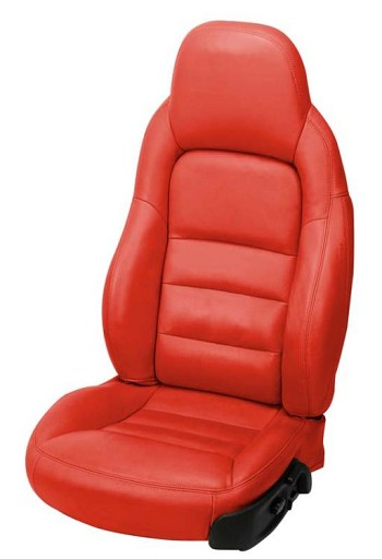 C6 Corvette Leather Seat Covers Solid Colors