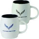 C7 Corvette 2014+ Matte Joe Mug - Storm Gray / Red
