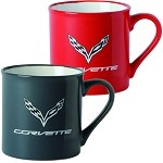 C7 Corvette 2014+ Zeal Coffee Mug - Storm Gray / Red