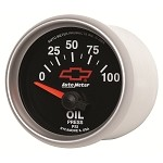 Universal Corvette 1968-2014+ Autometer 2-1/16 inch Oil Pressure 0-100 PSI - GM Black