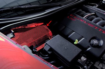C6 Corvette 2005-2013 Custom Painted Battery Cover Perforated