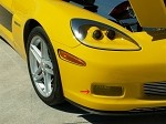 Corvette C6 Z06 Grand Sport Custom Painted Driving Light Covers Billet