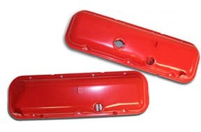 1967-1974 C3 Corvette Big Block Valve Covers with Power Brakes Orange