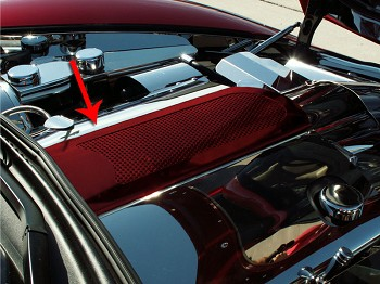 Corvette C6 Custom Painted Plenum Cover Perforated