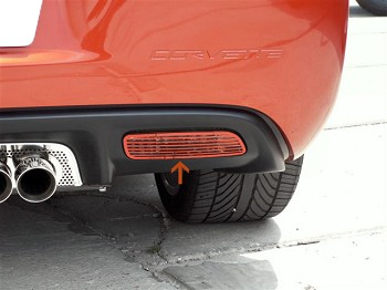 C6 Corvette 05-13 Custom Painted Reverse Light Covers Billet