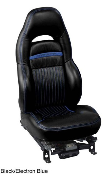 Corvette C5 Leather Seat Skin Covers Accent Stitch - Sport  Seat