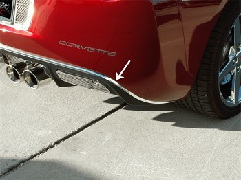 Corvette C6 Rear Valance Chrome Trim