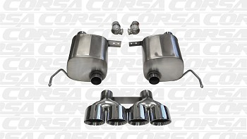 C7 Corvette Stingray 2014+ Corsa Sport Axle-Back Exhaust System