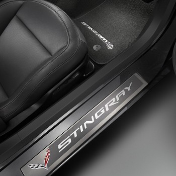 C7 Corvette Stingray 2014 + Sill Plate With Stingray Logo