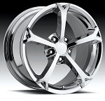 Corvette C6 OEM (2) 18x9.5 and (2) 19x12 Chrome Grand Sport Wheels